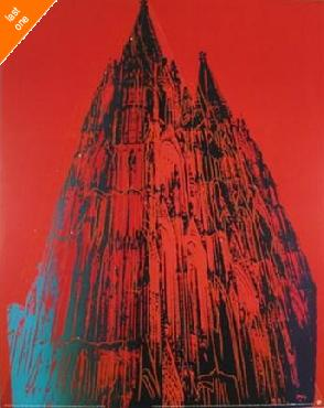 Andy Warhol Cologne Cathedral NO LONGER IN PRINT - LAST ONE!!