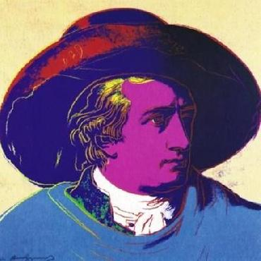 Andy Warhol Goethe Red and Black Offset Lithograph Edition of 2500