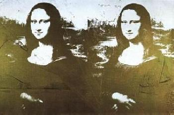 Andy Warhol Two Golden Mona Lisas Offset Lithograph Edition of 2500