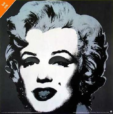 Andy Warhol Marilyn Black NO LONGER IN PRINT - LAST ONE!!