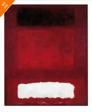 Mark Rothko Red White and Brown NO LONGER IN PRINT - LAST ONES!!