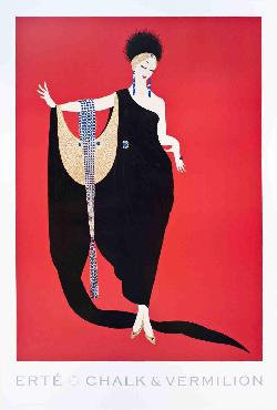 Erte Glamour Offset Lithograph
