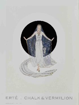 Erte Veil Gown Offset Lithograph