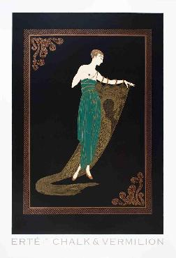 Erte Emerald Night Offset Lithograph