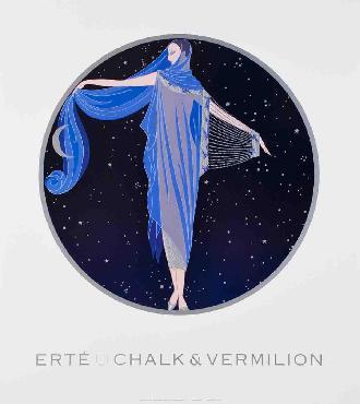 Erte Moonlight Offset Lithograph