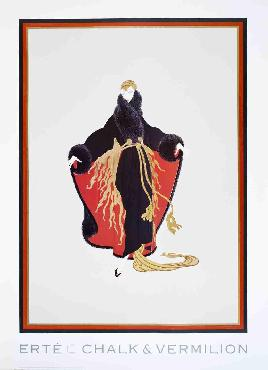 Erte Faubourg St. Honore Offset Lithograph