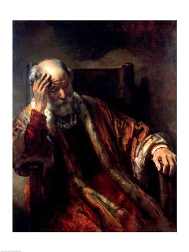 Rembrandt Van Rijn An Old Man In An Armchair