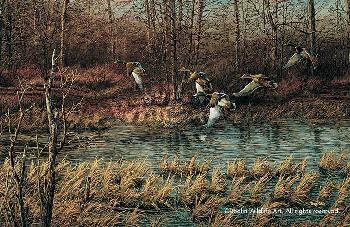Terry Redlin Apple River Mallards Encore Edition
