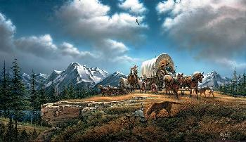 Terry Redlin O Beautiful for Spacious Skies Open Edition on Canvas