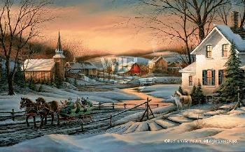 Terry Redlin Together for the Season Signed Open Edition on Paper