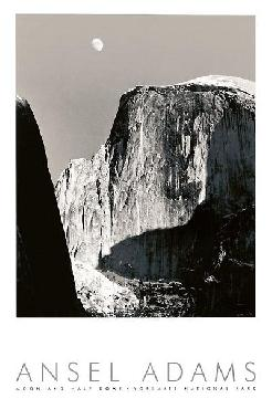 Ansel Adams Moon And Half Dome
