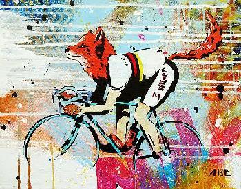 Abcartattack Le Fox Canvas