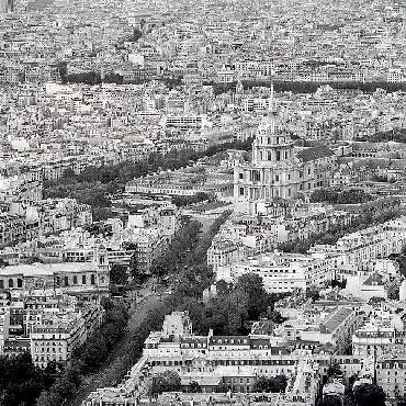 Alan Blaustein Above Paris #26 Canvas