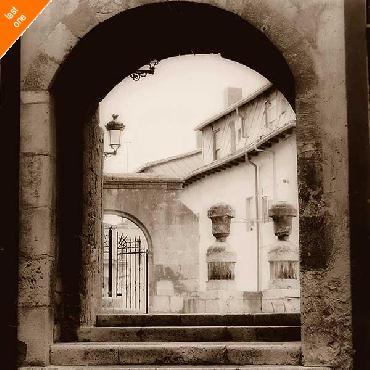 Alan Blaustein Courtyard in Burgos   LAST ONES IN INVENTORY!!