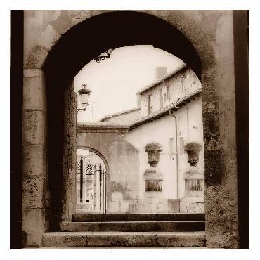 Alan Blaustein Courtyard In Burgos Canvas