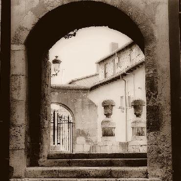 Alan Blaustein Courtyard In Burgos