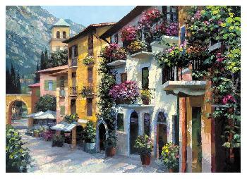 Howard Behrens Village Hideaway Canvas