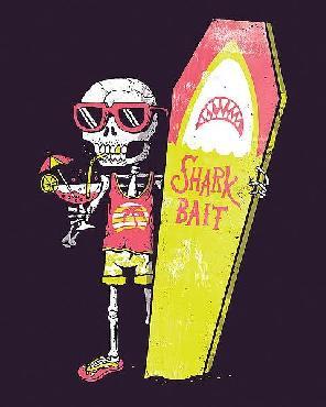 Michael Buxton Shark Bait Canvas