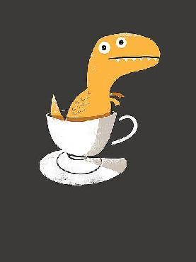 Michael Buxton Tea Rex Canvas