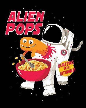 Michael Buxton Alien Pops Canvas