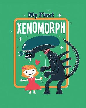 Michael Buxton My First Xenomorph Canvas