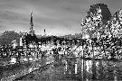 Alan Blaustein Louvre With Eiffel Tower VIsta #2