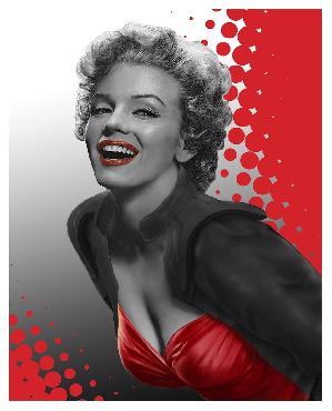 Chris Consani Marilyn Red Canvas