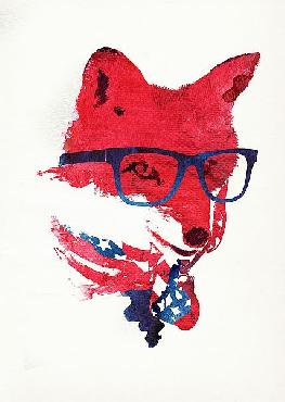 Robert Farkas American Fox Canvas