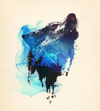 Robert Farkas Alone As A Wolf Canvas