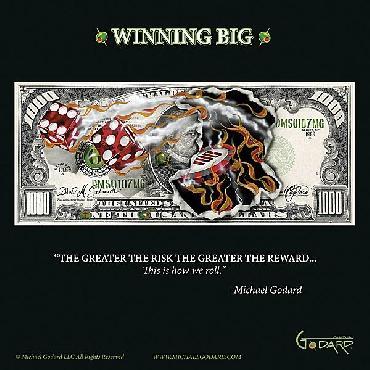 Michael Godard $1,000 Bill Winning Big