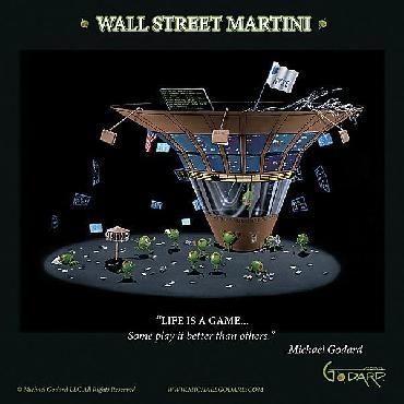 Michael Godard Wall Street Martini