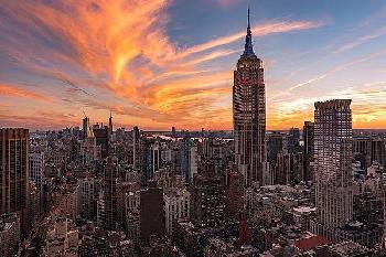 Bruce Getty 9 - 11 New York Sunset 2 Canvas
