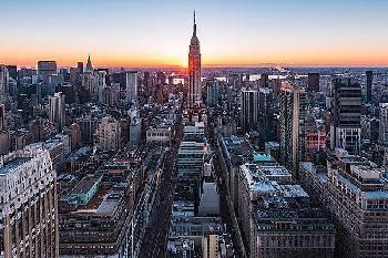 Bruce Getty Empire Sunburst Sunrise 2 Canvas