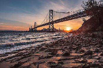 Bruce Getty Sunset From The Island 2 Canvas