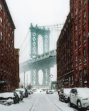 Bruce Getty The New York Blizzard Canvas