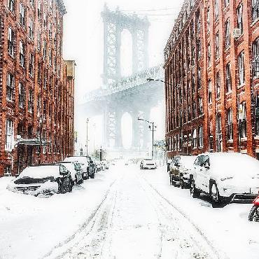 Bruce Getty The New York Blizzard 2 Canvas