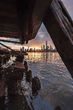 Bruce Getty Under The Pier Canvas