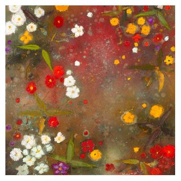 Aleah Koury Gardens In The Mist VI Canvas