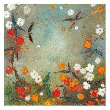 Aleah Koury Gardens In The Mist VII Canvas