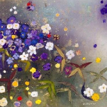 Aleah Koury Gardens In The Mist Ix Canvas