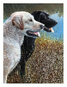 Kevin Daniel Hunting Companions Canvas