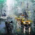Lague New York Rain Canvas Canvas