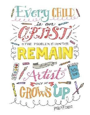 Elizabeth Caldwell Every Child Is An Artist Canvas