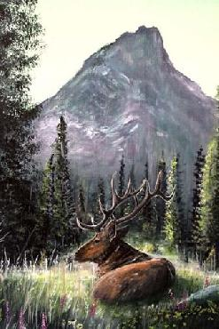 Greg Farrugia Yellowstone Elk Canvas