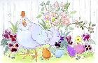Jennifer Zsolt Easter Hen