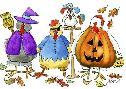 Jennifer Zsolt Halloween Hens