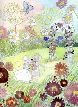 Jennifer Zsolt Wedding Mice Canvas