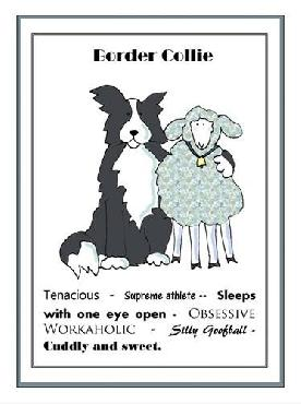 Jennifer Zsolt Border Collie Canvas