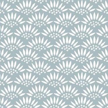 Jyotsna Warikoo Geo Petal Blue Canvas
