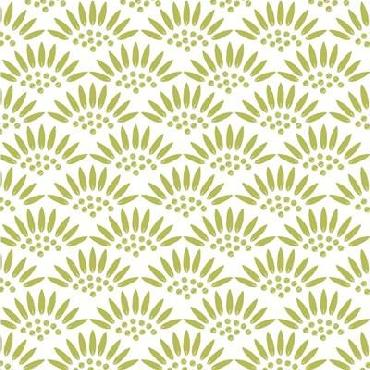 Jyotsna Warikoo Geo Petal White - Green Canvas